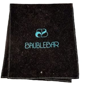 Baublebar Large Flap Jewelry Pouch NWOT